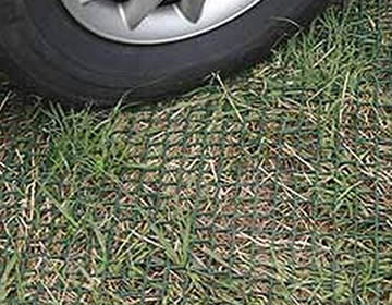Turf reinforcement mesh - protecting the roots